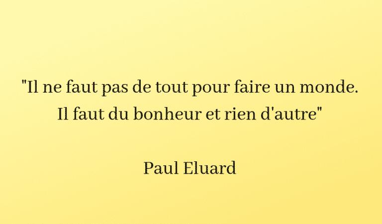Paul Eluard bonheur